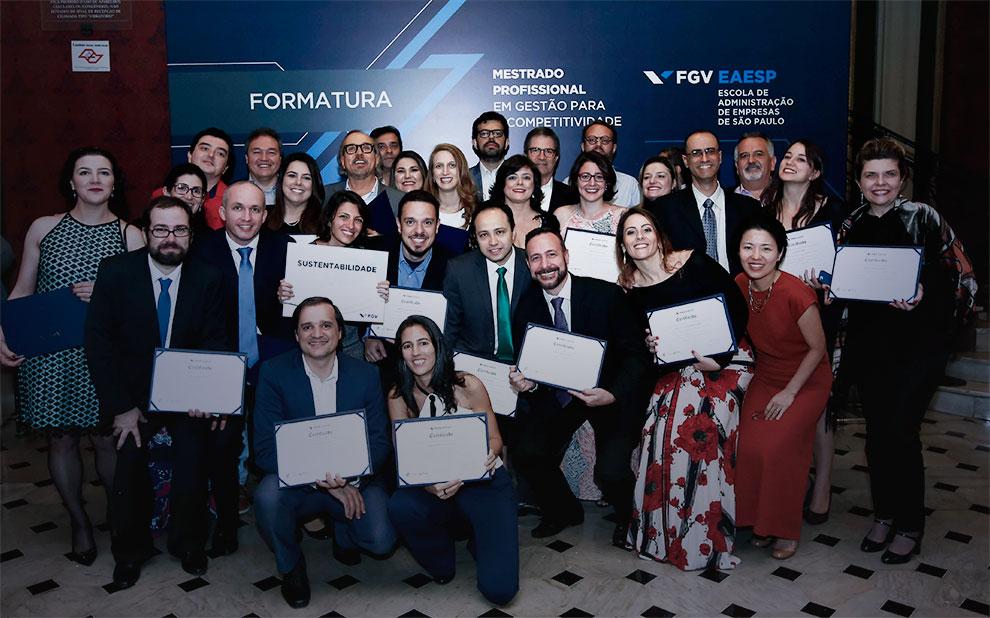 Mestrado em Gestão para Competitividade forma primeira turma e realiza processo seletivo para 2019
