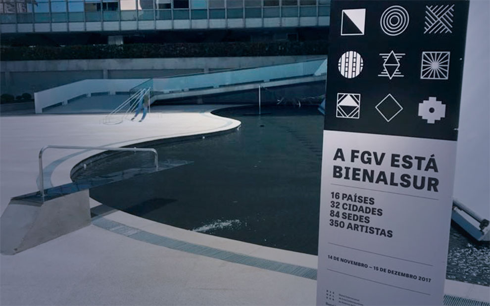BIENALSUR: contemporary art biennial is inaugurated on esplanade of FGV's Cultural Center