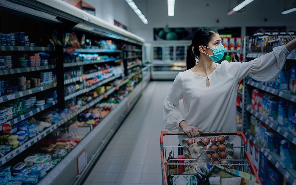 Coronavírus contribuiu para aumento de 1,8% no preço de alimentos da cesta básica