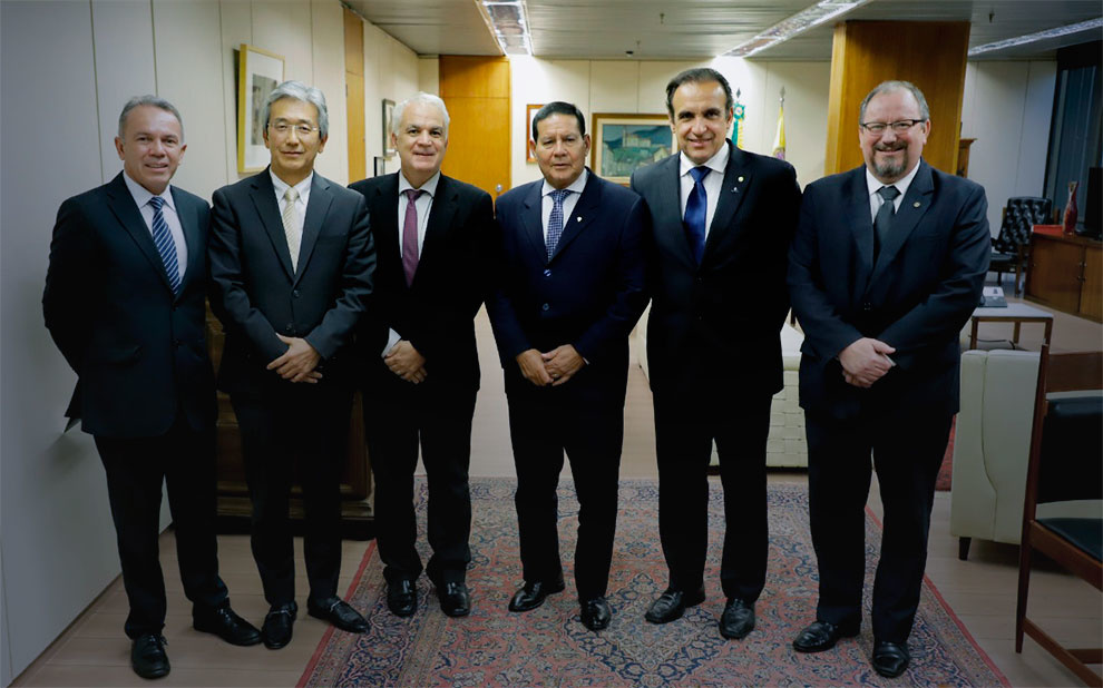 Public management and governance are discussed with Brazil's vice president, Hamilton Mourão, at Presidential Palace