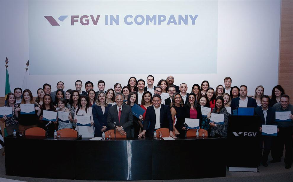 Evento marca encerramento de curso customizado de MBA Gestão Empresarial Online para o Bradesco