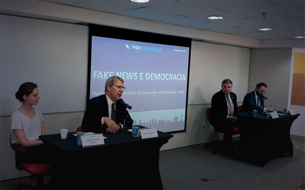 Debate sobre fake news marca lançamento da Plataforma de Liberdade de Expressão e Democracia