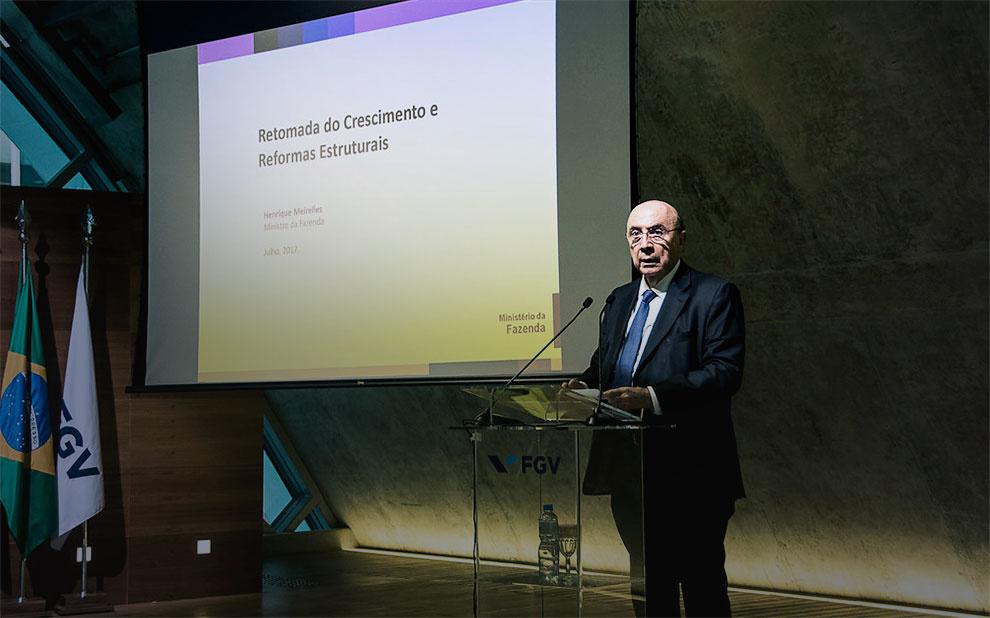 Henrique Meirelles aponta caminhos para o crescimento do Brasil em evento na FGV