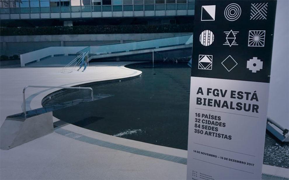 BIENALSUR: instalação de arte contemporânea é inaugurada na esplanada do Centro Cultural FGV